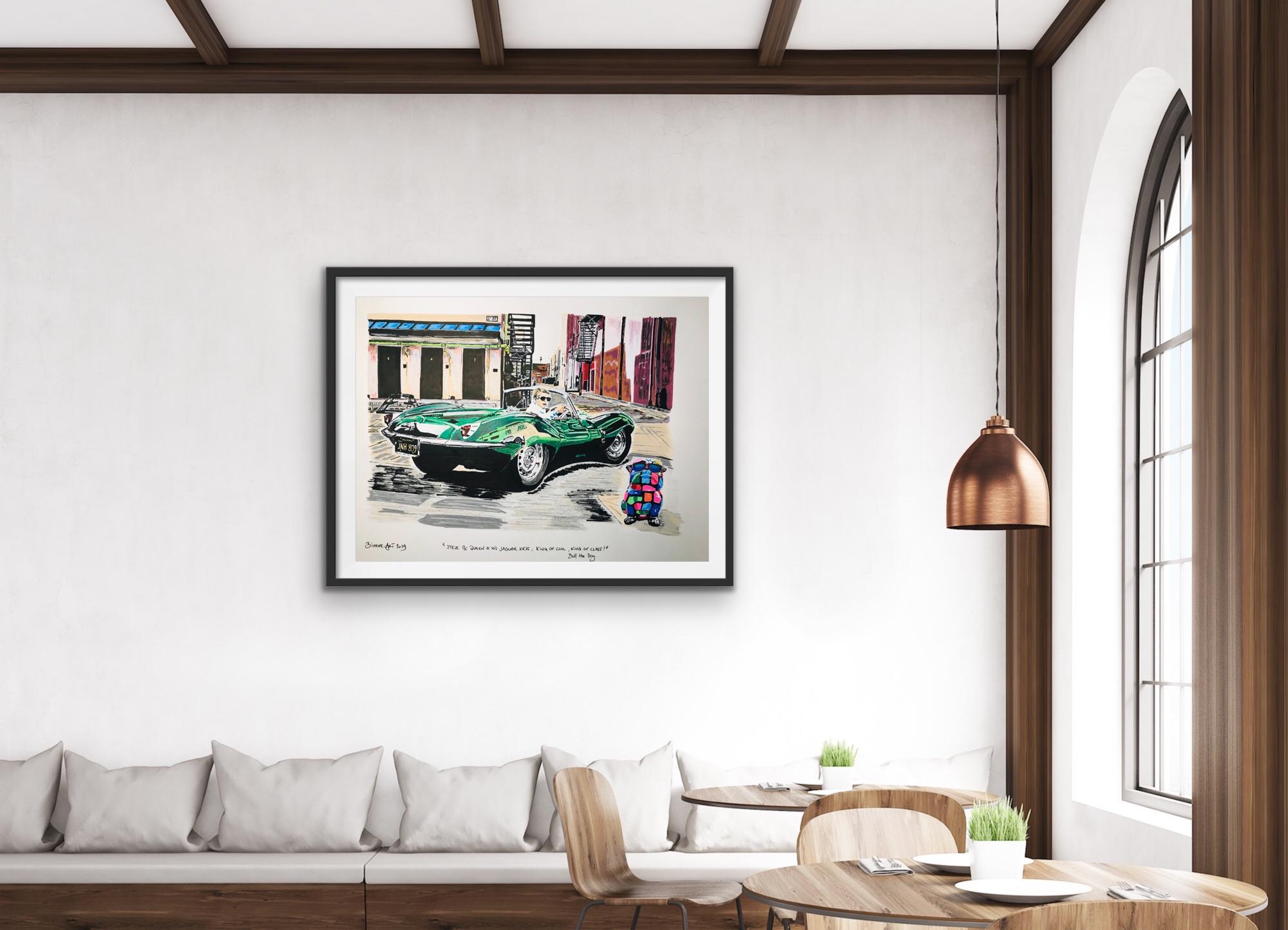 Steeve Mac Queen - Jaguar XKKS - bixhope art